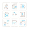 Set of vector real estate icons and concepts in mono thin line style Royalty Free Stock Photo