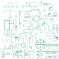 Set of vector repair and building icons for design