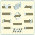 Set of vector retro ribbons banners and labels elements for design Royalty Free Stock Images