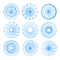 Set of vector round design elements. Royalty Free Stock Photo