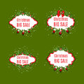 Set of vector sale labels. Christmas sale. New year sale Royalty Free Stock Photo