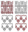 Set of vector seamless celtic design elements Royalty Free Stock Photography
