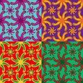 Set of vector seamless pattern