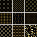 Set of  vector seamless  textures Royalty Free Stock Photo