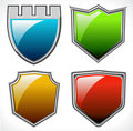 Set of vector shields Stock Photo