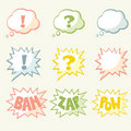 Set of vector speech bubble Stock Photography