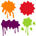 Set of Vector Splatter Royalty Free Stock Photo