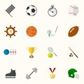 Set of vector sport icons in flat design this is file eps format Stock Image