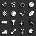 Set of vector sport icons in flat design illustration eps blends transparency Stock Photo