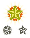 Set of vector stars design elements Royalty Free Stock Photography