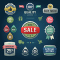 Set of vector stickers labels tags and icons da elements shopping Royalty Free Stock Images