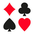 Set of vector symbols of playing cards suit.