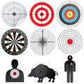 Set of Vector Targets and Dummies. Royalty Free Stock Photo