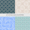 Set of vector techno seamless pattern Royalty Free Stock Photo