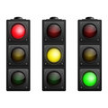 Set of Vector Traffic Lights isolated on white