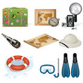 Set of vector travel icons Stock Images