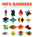 Set of vector triangle paper geometrical info banners Royalty Free Stock Photo