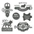 Set of vector vintage belt logo designs, retro