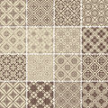Set of vector vintage seamless patterns illustration Royalty Free Stock Photo