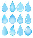 Set of vector water drops Royalty Free Stock Photo