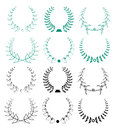 Set of vector wreaths
