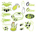 Set of vectors on olive oil theme Royalty Free Stock Photography