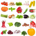 Set with vegetables Royalty Free Stock Images