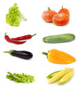 Set of vegetables Stock Images