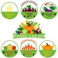 Set of vegetables logo templates