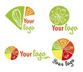 Set vegetables logos collection of and icons file Stock Photos