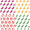 Set of vegetables seamless patterns. Healthy food backgrounds Royalty Free Stock Photo