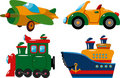 Set of vehicles Royalty Free Stock Image