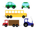 Set of vehicles Stock Image