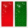 Set of vertical Christmas banners Royalty Free Stock Photo