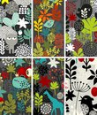 Set vertical karty z ptakami i zwierzętami Obrazy Royalty Free