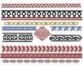 Set of viking border designs