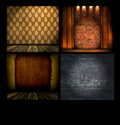 Set of Vintage Backgrounds Royalty Free Stock Photo