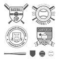 Set of vintage badge, emblem and elements for