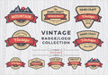 Set of vintage badge/logo design, retro badge design for logo Royalty Free Stock Photo