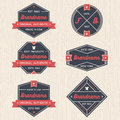 Set of vintage badges, banners, label, ribbon and logo template vector for business and shop