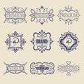 Set of vintage badges. Logo templates.