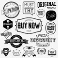 Set of vintage bagdes labels and stamps vector illustration Royalty Free Stock Photos