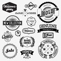 Set of vintage bagdes labels and stamps vector illustration Royalty Free Stock Photography