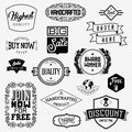 Set of vintage bagdes labels and stamps vector illustration Stock Photography