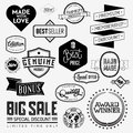 Set of vintage bagdes labels and stamps vector illustration Royalty Free Stock Image