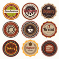 Set of vintage bakery badges and labels coffee Royalty Free Stock Image