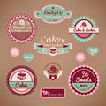 Set of vintage bakery labels Royalty Free Stock Photo