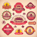 Set of vintage bakery labels vector various Stock Image