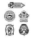 Set of vintage beef labels, logos and badges. Royalty Free Stock Photo