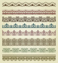 Set of vintage borders Stock Photography